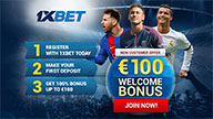100% bonus On the 1st deposit up to 100 EUR